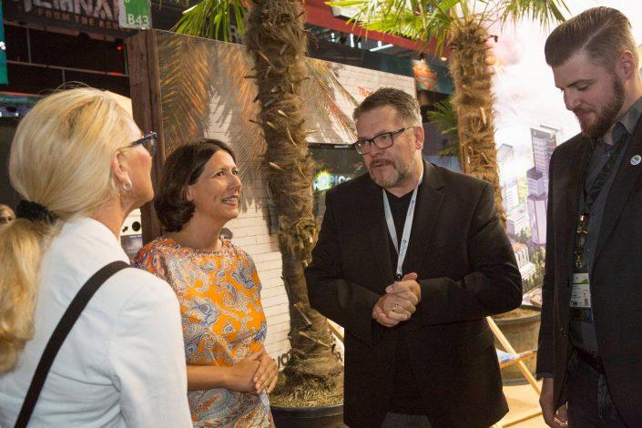gamescom 2018 mit Staatssekretärin Daniela Schmitt 16