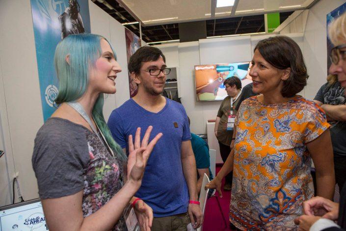 gamescom 2018 mit Staatssekretärin Daniela Schmitt 26