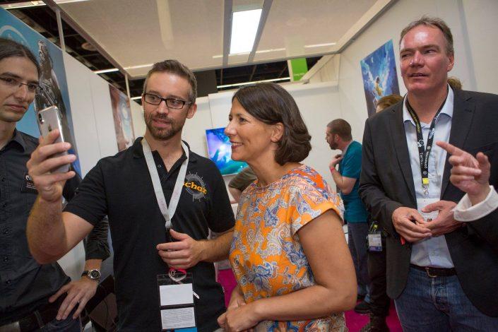 gamescom 2018 mit Staatssekretärin Daniela Schmitt 36
