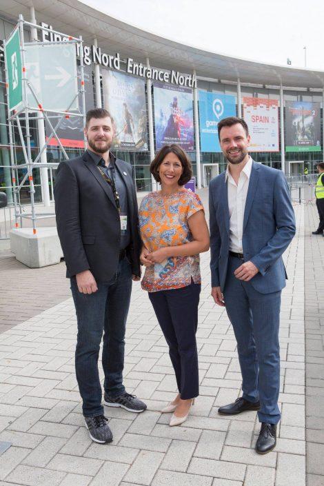 gamescom 2018 mit Staatssekretärin Daniela Schmitt 38