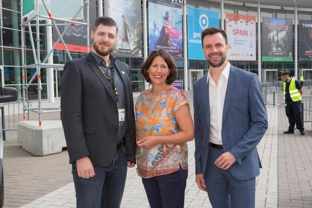gamescom 2018 mit Staatssekretärin Daniela Schmitt 1