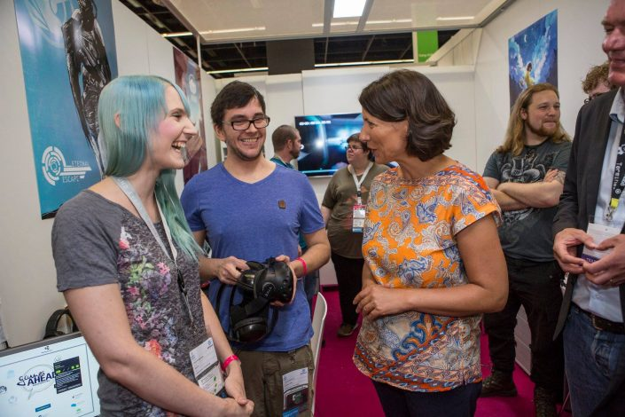 gamescom 2018 mit Staatssekretärin Daniela Schmitt 41