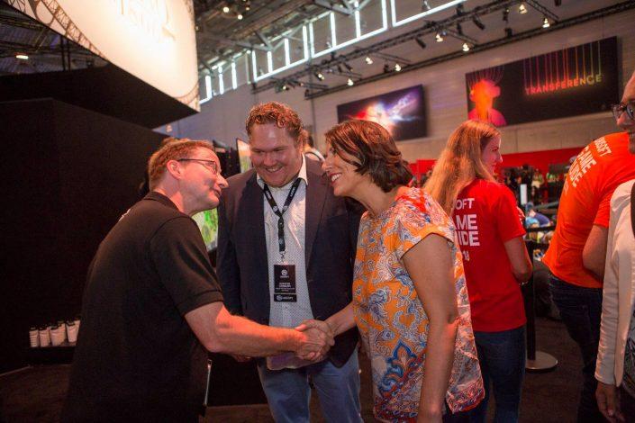 gamescom 2018 mit Staatssekretärin Daniela Schmitt 43