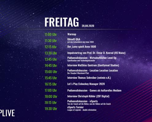 gamescom GameUp! Live Programm 2020 1